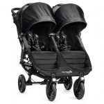 Baby Jogger City Mini GT Double Black - twin stroller, 4 wheels, black frame