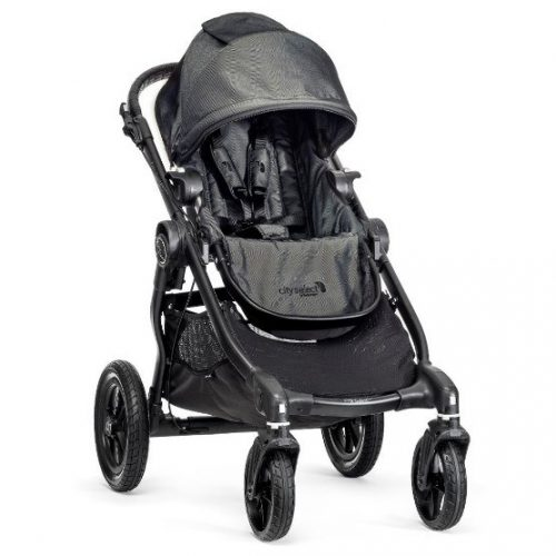 Baby Jogger City Select Charcoal - single stroller, black frame, 4 wheels