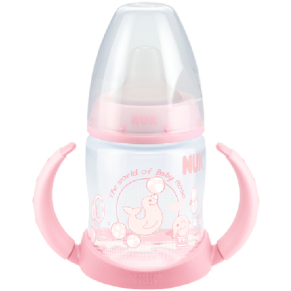 nuk first choice baby blue rose training bottle reviews tell me baby. Black Bedroom Furniture Sets. Home Design Ideas