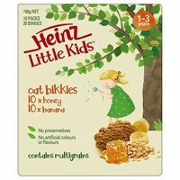 Heinz Little Kids Oat Bikkies Honey & Banana