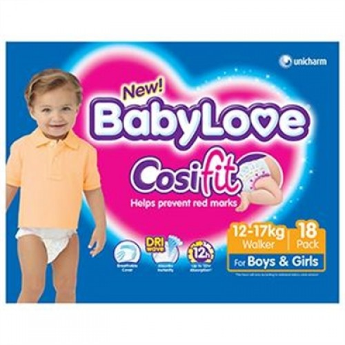 BabyLove CosiFit Nappies Walker 18pack