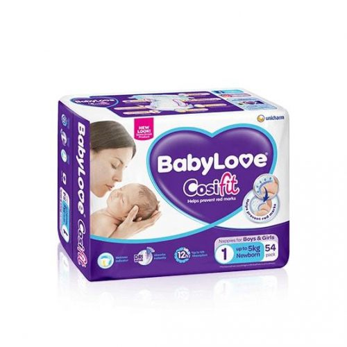 Newborn Size 1: up to 5kg BabyLove CosiFit Nappies 54-pack