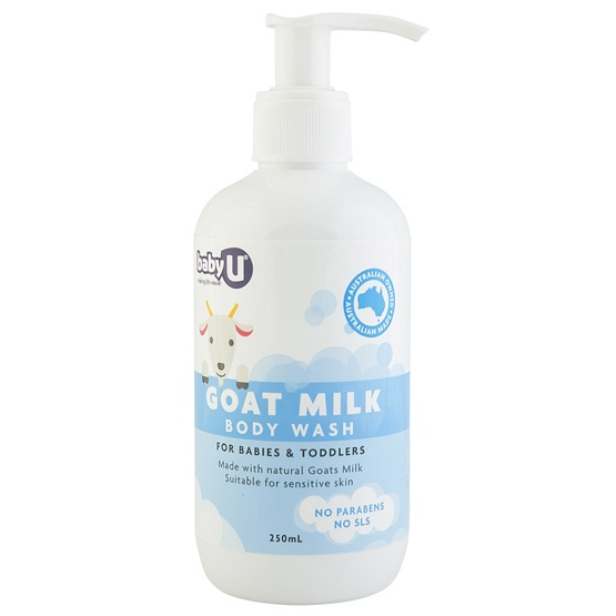 BabyU Goat Milk Body Wash 250ml Pump Bottle