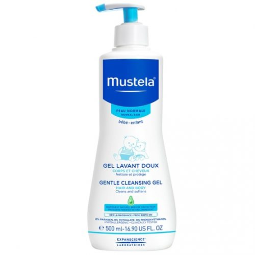 500mL pump bottle of Mustela Gentle Cleansing Gel