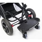babybee Orbit Buggy Board v2 Attached to Pram