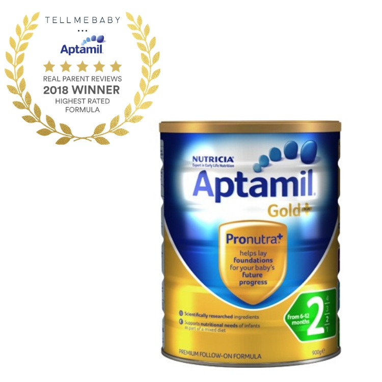 The top baby formula 2018 is Aptamil Gold Plus 2 in the Tell Me Baby 2018 Awards for best baby products