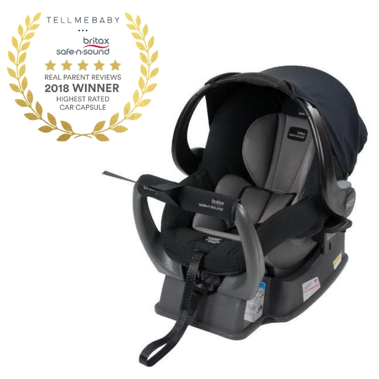 The top baby capsule 2018 is the Britax Safe-n-Sound Unity NEOS Capsule in the Tell Me Baby 2018 Awards for best baby products
