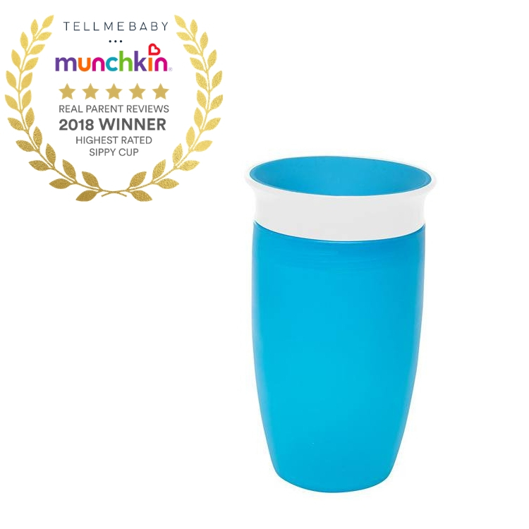 The top sippy cup 2018 is the Munchkin Miracle 360 Cup in the Tell Me Baby 2018 Awards for best baby products